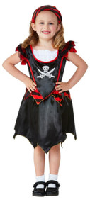 Toddler Girls Pirate Fancy Dress Costume