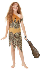 Childs Horrible Histories Cave Fancy Dress Costume