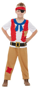 Childs Horrible Histories Pirate Fancy Dress Costume