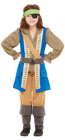 Childs Horrible Histories Pirate Captain Fancy Dress Costume