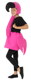 Girls Hot Pink Flamingo Fancy Dress Costume
