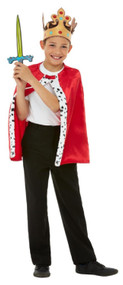 Childs Red Royal Fancy Dress Costume Kit