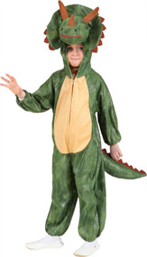 Child's Green Triceratops Fancy Dress Costume