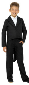 Childs Black Fancy Dress Tailcoat