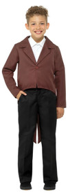 Childs Brown Fancy Dress Tailcoat