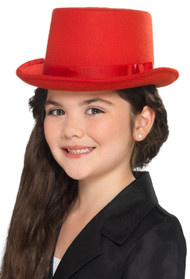Childs Red Fancy Dress Top Hat