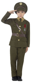 Boys Army Officer Fancy Dress Costume