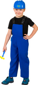 Child's Blue Fancy Dress Costume Overalls