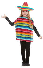 Childs Mexican Fancy Dress Costume Kit