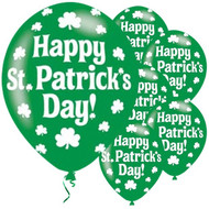 Happy St Patricks Day Shamrock Balloons
