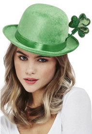 Adults Deluxe St Patricks Day Bowler Hat