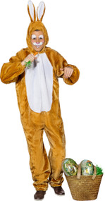 Adult Brown Bunny Fancy Dress Costume