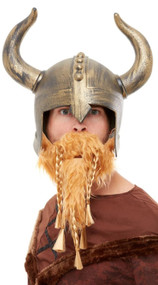 Mens Viking Helmet & Beard Accessory