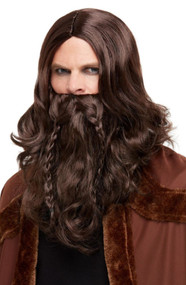 Mens Viking Barbarian Wig & Beard