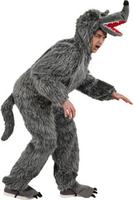 Adult Big Bad Grey Wolf Fancy Dress Costume