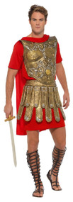 Mens Golden Gladiator Fancy Dress Costume