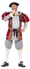 Mens Deluxe Henry VIII Fancy Dress Costume