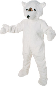 Adult Polar Bear Mascot Fancy Dress Costume