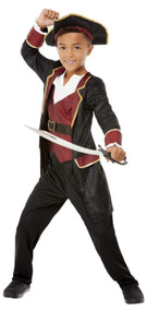 Boys Deluxe Swashbuckler Pirate Fancy Dress Costume