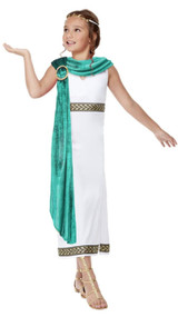 Girls Deluxe Roman Fancy Dress Costume