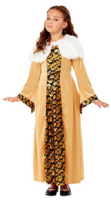 Girls Deluxe Medieval Countess Fancy Dress Costume
