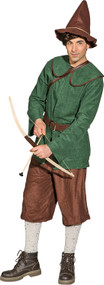 Men's Medieval Archer Fancy Dress Costume