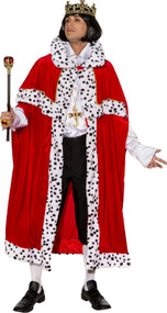 Adult Red King Fancy Dress Cloak