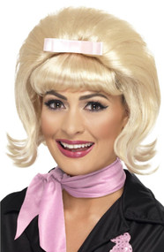 Ladies Blonde 50s Beehive Bob Fancy Dress Wig