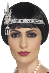 Ladies Vintage Jewel Flapper Headband