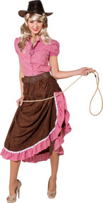 Ladies Cowgirl Fancy Dress Skirt