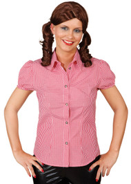 Ladies Red Checked Fancy Dress Blouse