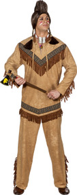 Mens American Indian Fancy Dress Costume