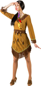 Ladies American Indian Fancy Dress Costume