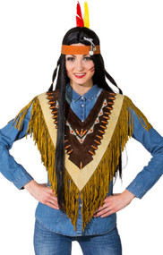 Ladies Deluxe Indian Fancy Dress Poncho