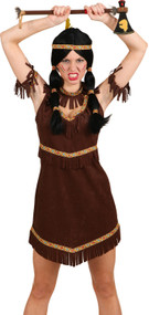 Ladies Indian Warrior Fancy Dress Costume