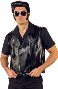 Mens Leather Fancy Dress Waistcoat