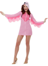 Ladies Cute Flamingo Fancy Dress Costume