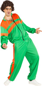 Mens Green 80s Shell Suit Fancy Dress Costume