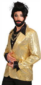 Mens Gold Sequinned Disco Jacket