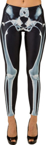 Ladies Halloween Skeleton Fancy Dress Leggings