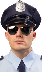 Adult Blue Police Fancy Dress Hat