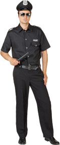 Mens Police Fancy Dress Costume