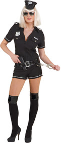 Ladies Police Playsuit Fancy Dress Costume
