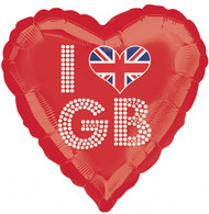"Red ""I Heart GB"" Balloon"