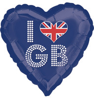 "Blue ""I Heart GB"" Balloon"