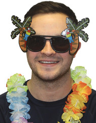 Adults Palm Tree Fancy Dress Glasses