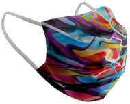 Adults  Colorful Swirl Reusable Face Mask