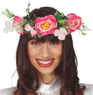 Ladies Bright Floral Fancy Dress Crown