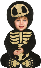 Baby Cute Big Head Skeleton Fancy Dress Costume