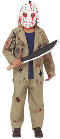 Boys Masked Horror Fancy Dress Costume